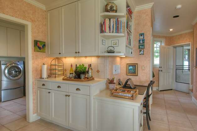 The Petaluma home has work stations peppered throughout the property. Photo: Matt McCourtney, McCourtney Photographics
