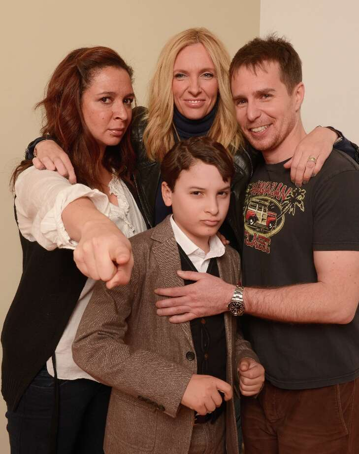 (L-R) Actors Maya Rudolph, Liam James, Toni Collette and Sam Rockwell from the film The Way, Way Back pose for a portrait during the 2013 Sundance Film Festival at the Getty Images Portrait Studio at Village at the Lift on January 22, 2013 in Park City, Utah. Photo: Larry Busacca, Getty Images / 2013 Getty Images