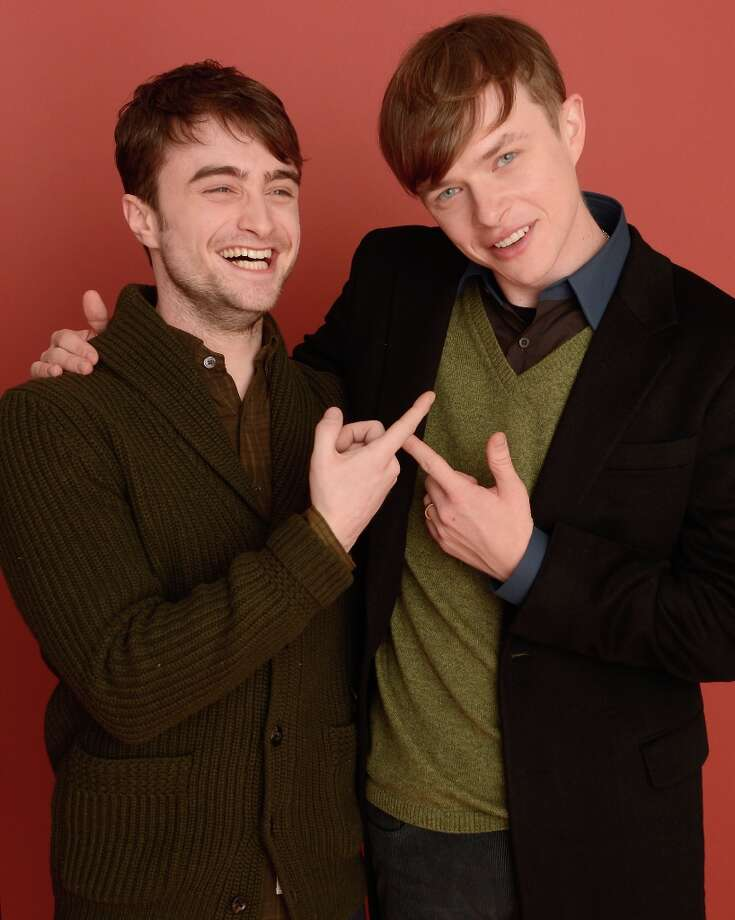 Actors Daniel Radcliffe and Dane DeHaan from the film Kill Your Darlings pose for a portrait during the 2013 Sundance Film Festival at the Getty Images Portrait Studio at Village at the Lift on January 18, 2013 in Park City, Utah. Photo: Larry Busacca, Getty Images / 2013 Getty Images
