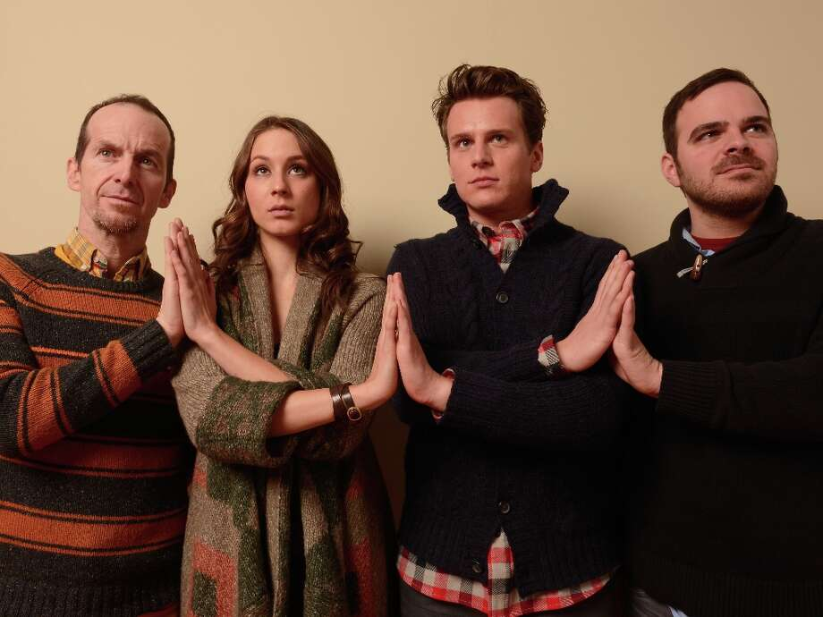 (L-R) Actors Denis O'Hare, Troian Bellisario and Jonathan Groff and filmmaker Kyle Patrick Alvarez from C.O.G. pose for a portrait during the 2013 Sundance Film Festival at the Getty Images Portrait Studio at Village at the Lift on January 21, 2013 in Park City, Utah. Photo: Larry Busacca, Getty Images / 2013 Getty Images