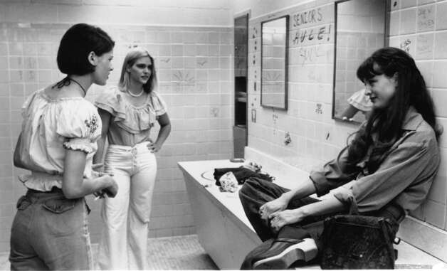 Dazed and Confused featured pretty teenage girls hazing each other, getting high and drunk, and hanging out in the bathroom. Sound like high school? From left to right: Actresses Christine Harnos, Deena Martin and Michelle Burke. Photo: Archive Photos, Getty Images / 2011 Getty Images