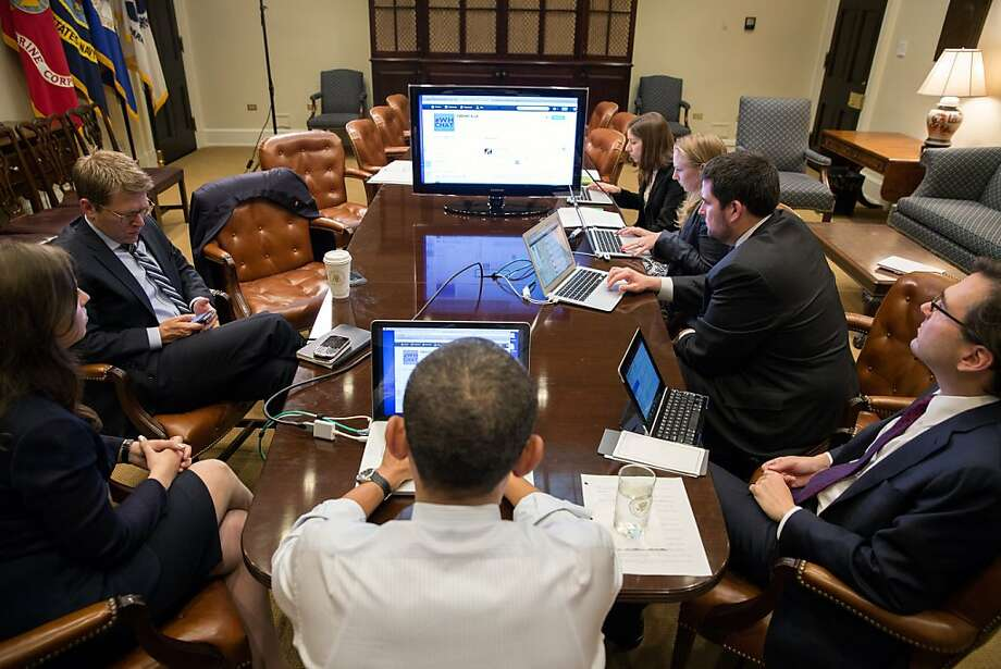 President Obama participates in a live Twitter question-and-answer session at the White House Dec. 3. The government should create a digital platform that would allow citizens and their representatives to communicate directly. Photo: Pete Souza, AFP/Getty Images