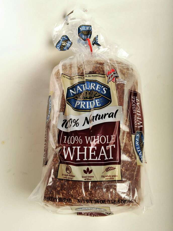 Nature's Pride whole wheat bread in the TU photo studio Wednesday July 18, 2012.   (John Carl D'Annibale / Times Union) Photo: John Carl D'Annibale / 00018500A