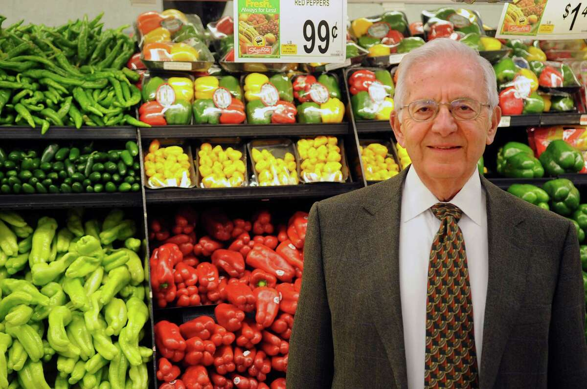 Sam Cingari, owner of Grade A ShopRite markets, poses for a portrait in his Shippan store on Wednesday, January 23, 2012.