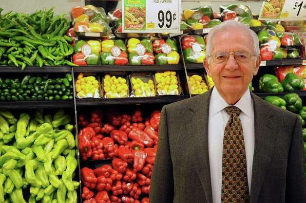 Sam Cingari, owner of Grade A ShopRite markets, poses for a portrait in his Shippan store on Wednesday, January 23, 2012. Photo: Lindsay Perry / Stamford Advocate