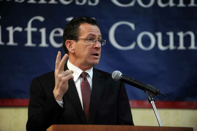 Connecticut Governor Dannel Malloy speaks at the Business Council of Fairfield County's winter luncheon at the Sheraton Hotel in Stamford on Wednesday, January 23, 2012. Photo: Lindsay Perry / Stamford Advocate