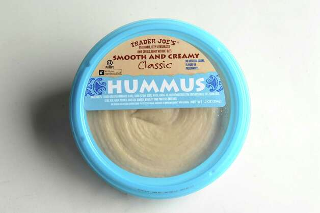 Trader Joe's hummus on Wednesday, Jan. 16, 2013, at Times Union in Colonie, N.Y. (Cindy Schultz / Times Union) Photo: Cindy Schultz / 00020767A