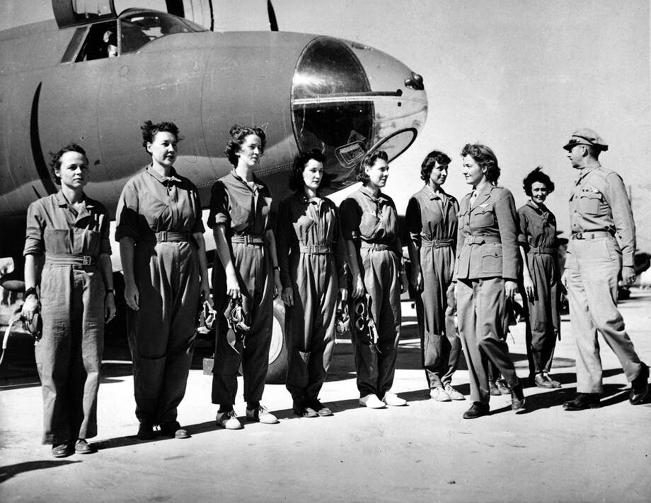 1942: Nancy Harkness Love and Jackie Cochran formed a group of female aviators which eventually merged into the Women Airforce Service Pilots during World War II. Photo: ASSOCIATED PRESS / AP1942