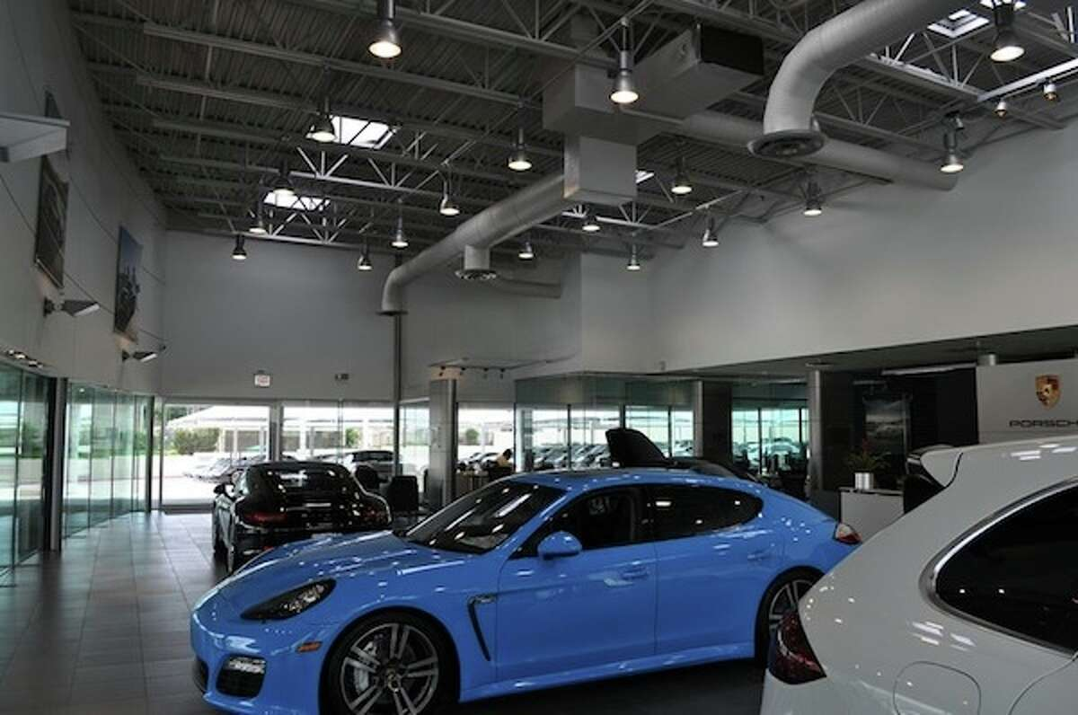 10. Texas: 224 projects, totaling 36 million square feet, certified in 2012, equating to 1.43 square feet per person. This is the San Antonio Porsche Center, certified LEED Gold.