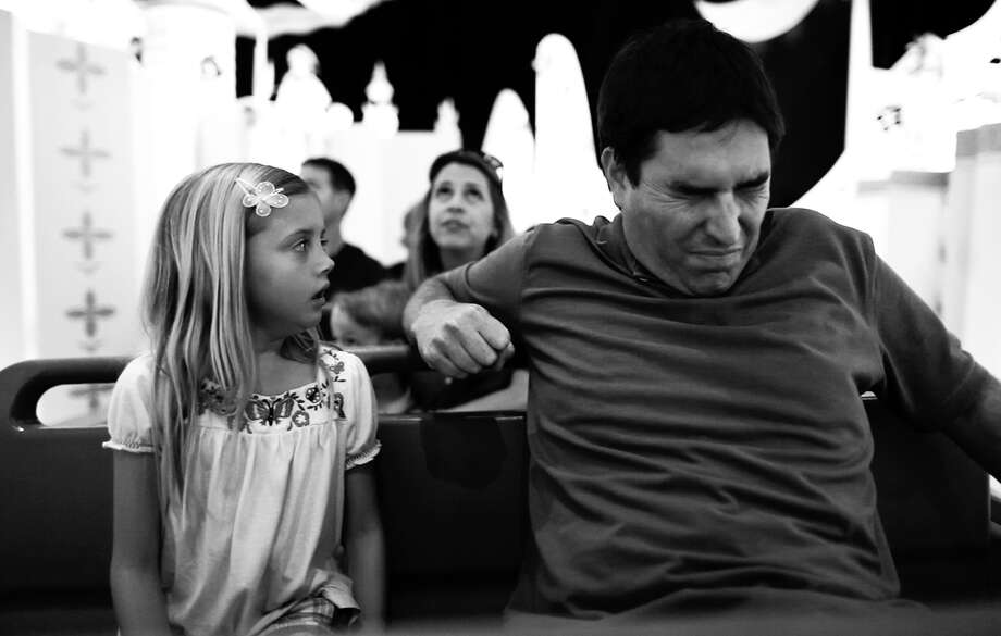 """An undated handout photo of Katelynn Rodriguez and Roy Abramsohn in Randy Moore's new film """"Escape From Tomorrow,"""" a horror fantasy that premiered at the 2013 Sundance Film Festival. Moore filmed scenes at two of Disney's theme parks without corporate permission and the story line is not flattering. (Mankurt Media LLC via The New York Times) -- NO SALES; FOR EDITORIAL USE ONLY WITH STORY SLUGGED SUNDANCE-DISNEY FILM BY BROOKS BARNES. ALL OTHER USE PROHIBITED. Photo: MANKURT MEDIA LLC, HO / MANKURT MEDIA LLC"""