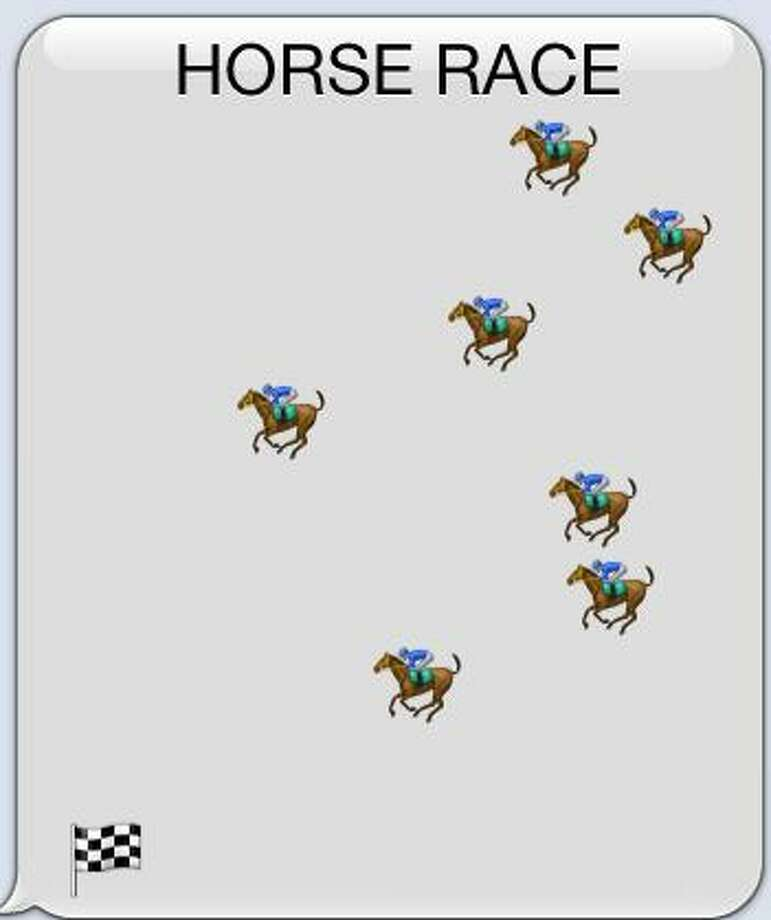 Horse Race is a sample of emoticon art. Photo: Courtesy