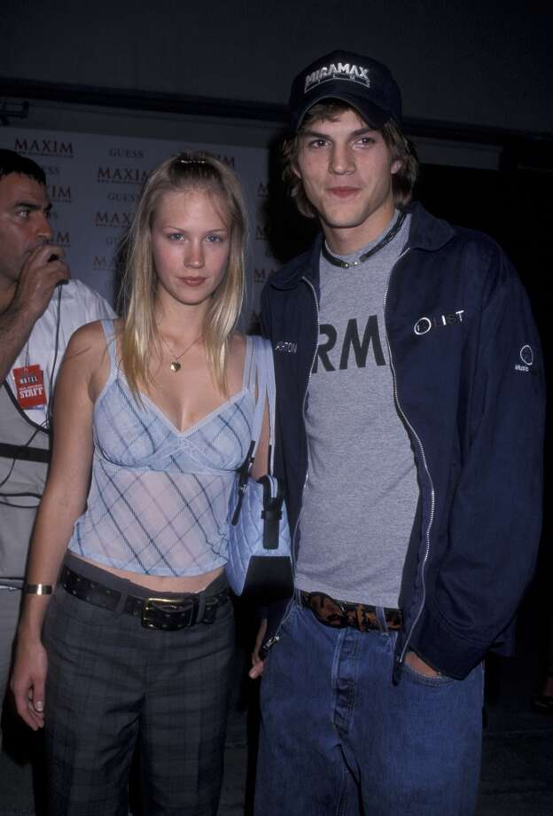 Before January Jones, 35, started playing Betty Draper and dating Josh Groban, she was with Ashton Kutcher. They're pictured in 2000. Photo: Ron Galella, Ltd., WireImage / 2000 Ron Galella, Ltd.