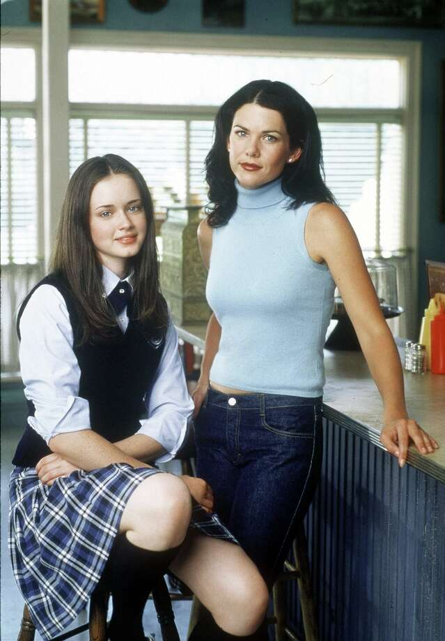 Before she played Pete Campbell's unstable mistress, Alexis Bledel (left), who's 31, starred in 'The Gilmore Girls.' She's pictured with Lauren Graham. Photo: Warner Bros., Getty Images / Getty Images North America