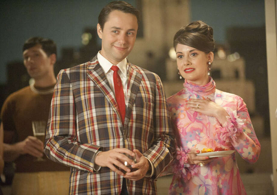 Alison Brie as Trudy Campbell, with Vincent Kartheiser as Pete Campbell. Photo: Ron Jaffe/AMC.