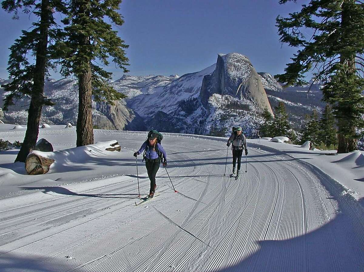 Glide across groomed cross-country skiing trails While Yosemite Valley usually doesn't have sufficient snow for skiing, several trails are marked and often available mid-December through March along Glacier Point Road. You'll find lessons and equipment rentals at Yosemite Ski & Snowboard Area.