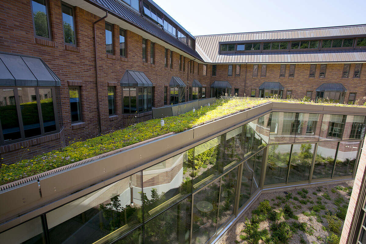 This is Miller Hall, at Western Washington University, in Bellingham, certified LEED gold.
