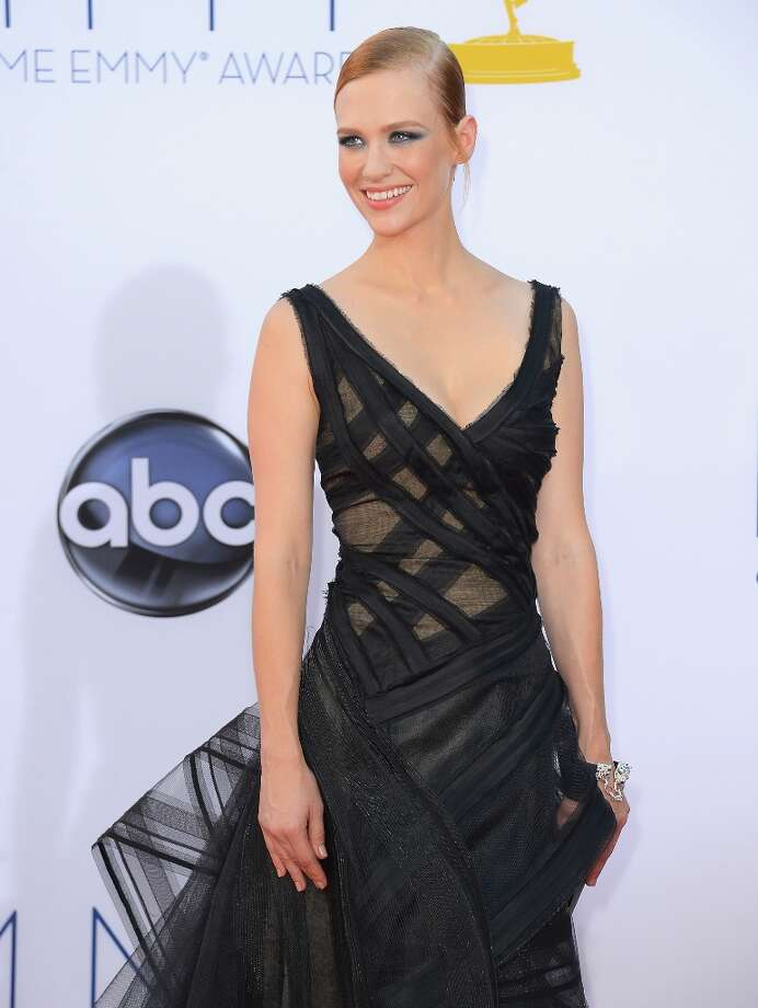 January Jones, at the 2012 Emmys.  Photo: Frazer Harrison, Getty Images / 2012 Getty Images