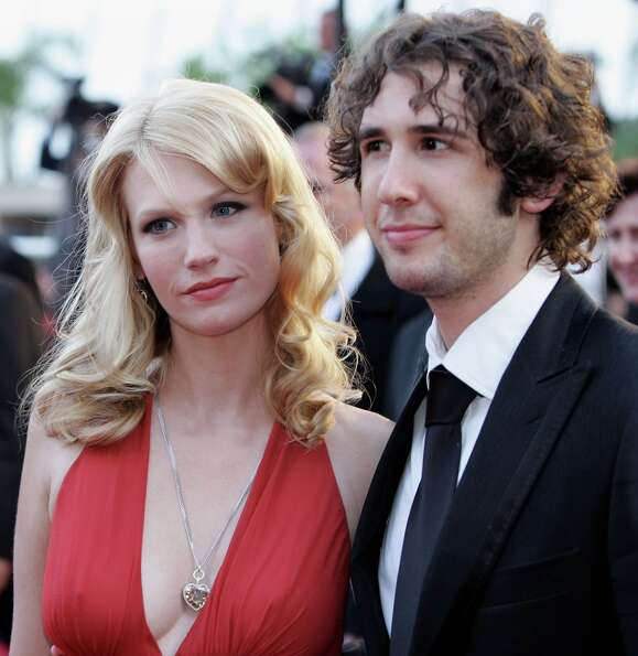 January Jones in 2005 with Josh Groban, at the screening of the movie, 'Three Burials of Melquiades