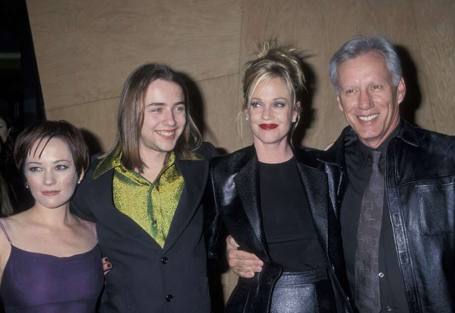 It's 'Pete' with long hair! Actually, it's Vincent Kartheiser (second from left) in 1998, when he starred in the movie 'Another Day in Paradise' with Natasha Wagner (left), Melanie Griffith, and James Woods (right). Photo: Ron Galella, Ltd., WireImage / Ron Galella Collection