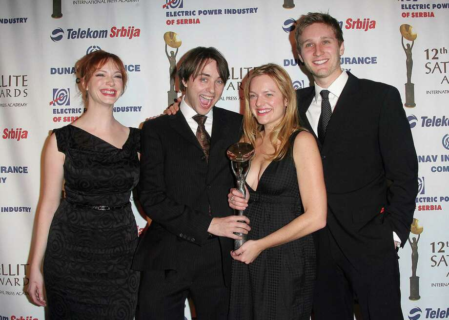 'Mad Men' cast in 2007, at the International Press Academy Satellite Awards. (L-R): Christina Hendricks, Vincent Kartheiser, Elisabeth Moss and Aaron Staton. Photo: VALERIE MACON, AFP/Getty Images / 2007 AFP