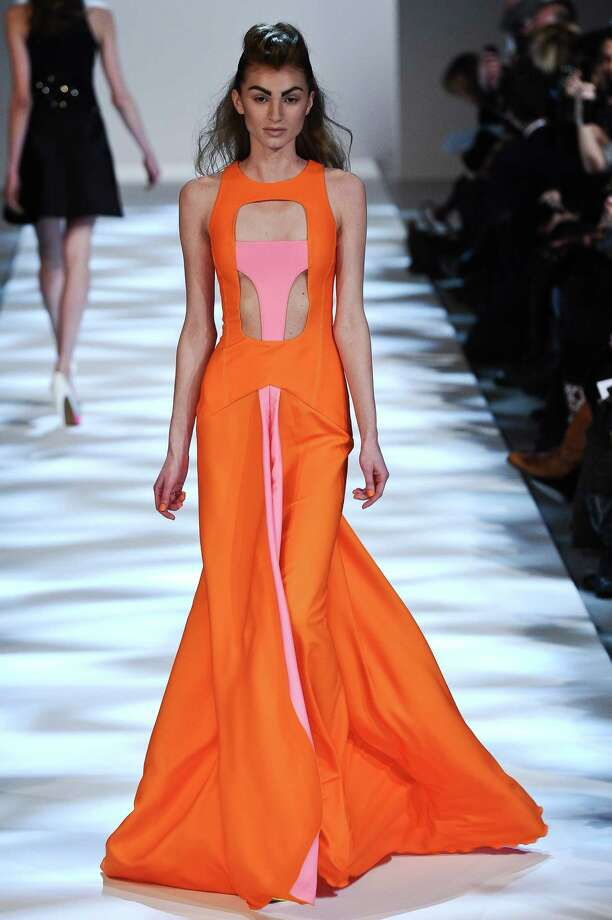 A model wears a creation by fashion designer Georges Chakra. Photo: AP