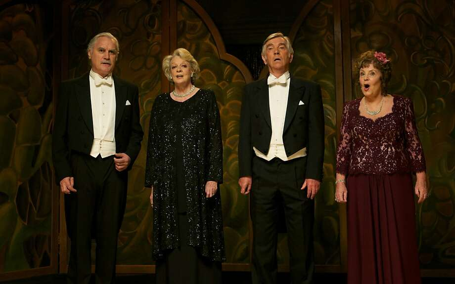 "Billy Connolly (left) Maggie Smith, Tom Courtenay and Pauline Collins are performers reunited in a rest home in Dustin Hoffman's ""Quartet."" Photo: Kerry Brown, The Weinstein Co."