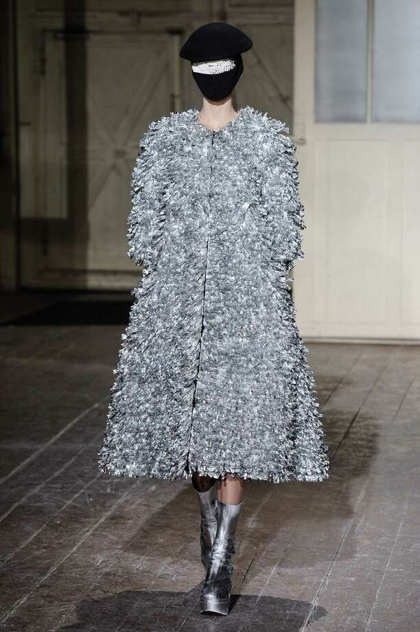 A model wears a creation by fashion designer Martin Margiela. Photo: AP
