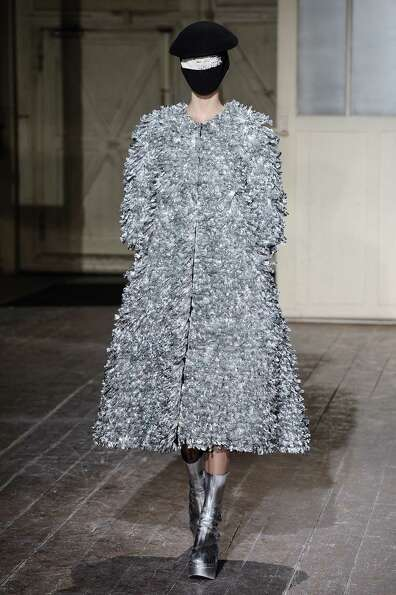 A model wears a creation by fashion designer Martin Margiela.