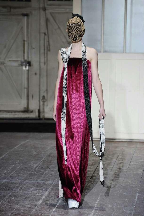 A model wears a creation by fashion designer Martin Margiela. Photo: AP