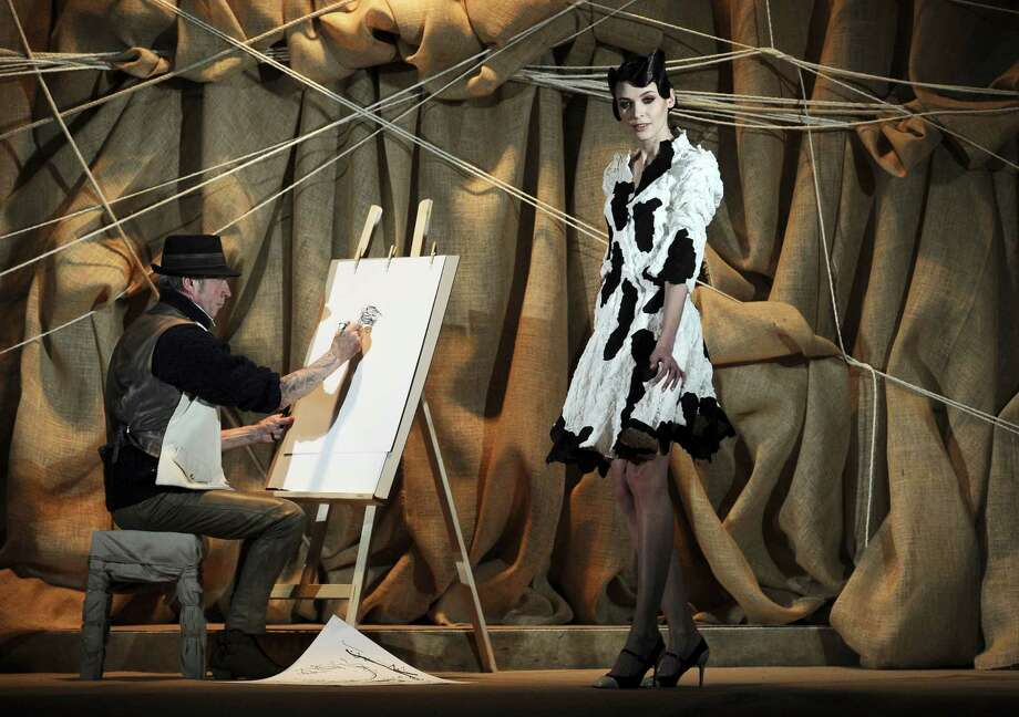 A model presents a creation for French fashion designer Frank Sorbier. Photo: AP