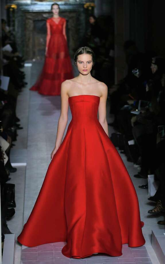 A model wears a creation by fashion designers Maria Grazia Chiuri and Pier Paolo Piccioli for Valentino as part of the women's spring/summer 2013 haute couture collections presented in Paris, Wednesday, Jan. 23, 2013. Photo: AP