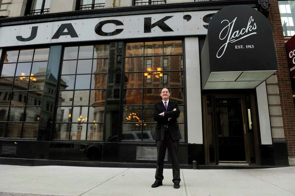 Owner Brad Rosenstein at Jack's Oyster House on Tuesday, Jan. 22, 2013, in Albany, N.Y. Thursday is the 100th anniversary of the opening of Jack's, which was founded by Jack Rosenstein, Brad's grandfather. (Cindy Schultz / Times Union)