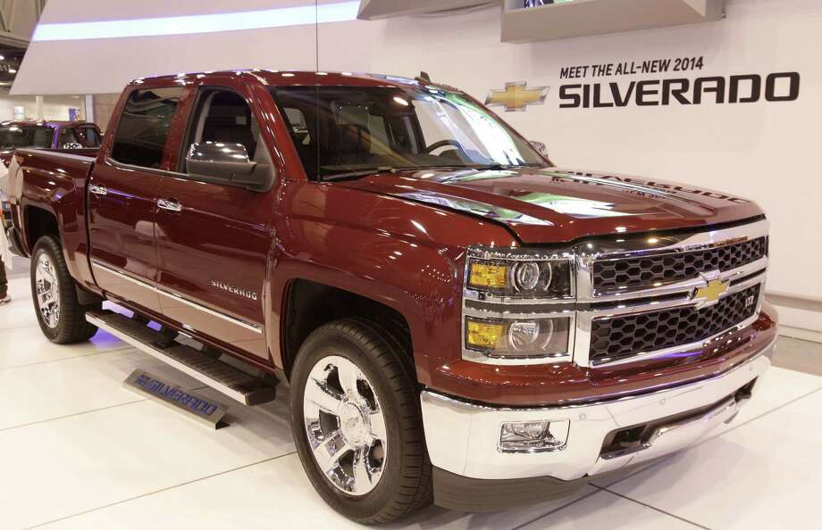 A Chevy Silverado shown at the Houston Auto Show in Reliant Center, Tuesday, Jan. 22, 2013, in Houston.  The show runs from Jan. 23 through Jan. 27. Photo: Melissa Phillip, Houston Chronicle / © 2013 Houston Chronicle