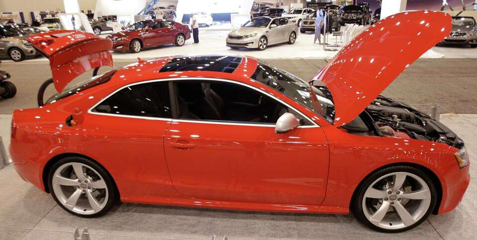 An Audi RS5 shown at the Houston Auto Show in Reliant Center, Tuesday, Jan. 22, 2013, in Houston.  T