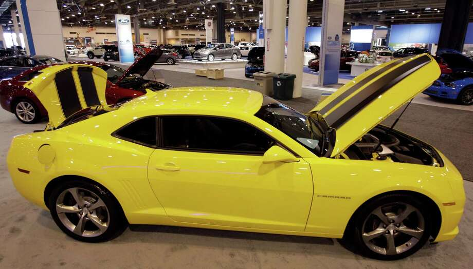 A Chevy Camaro SS shown at the Houston Auto Show in Reliant Center, Tuesday, Jan. 22, 2013, in Houston.  The show runs from Jan. 23 through Jan. 27. Photo: Melissa Phillip, Houston Chronicle / © 2013 Houston Chronicle