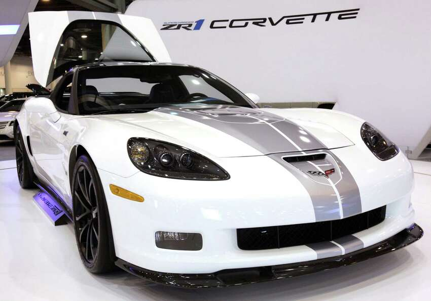 A Chevy ZR1 Corvette shown at the Houston Auto Show in Reliant Center, Tuesday, Jan. 22, 2013, in Ho