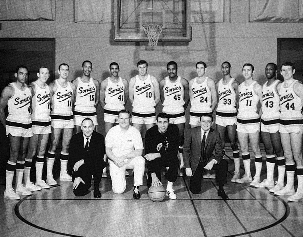 The original Sonics team is seen in this photo taken before the 1967-68 season.