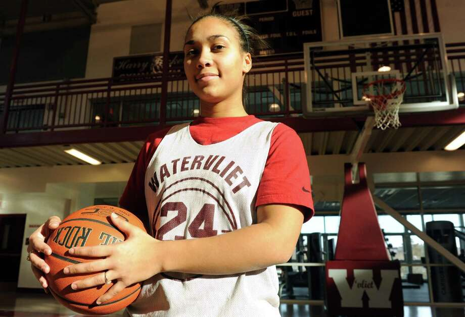 Watervliet High School girl's basketball player Ailayia Demand on Wednesday Jan. 23,2013 in Watervliet, N.Y. (Michael P. Farrell/Times Union) Photo: Michael P. Farrell
