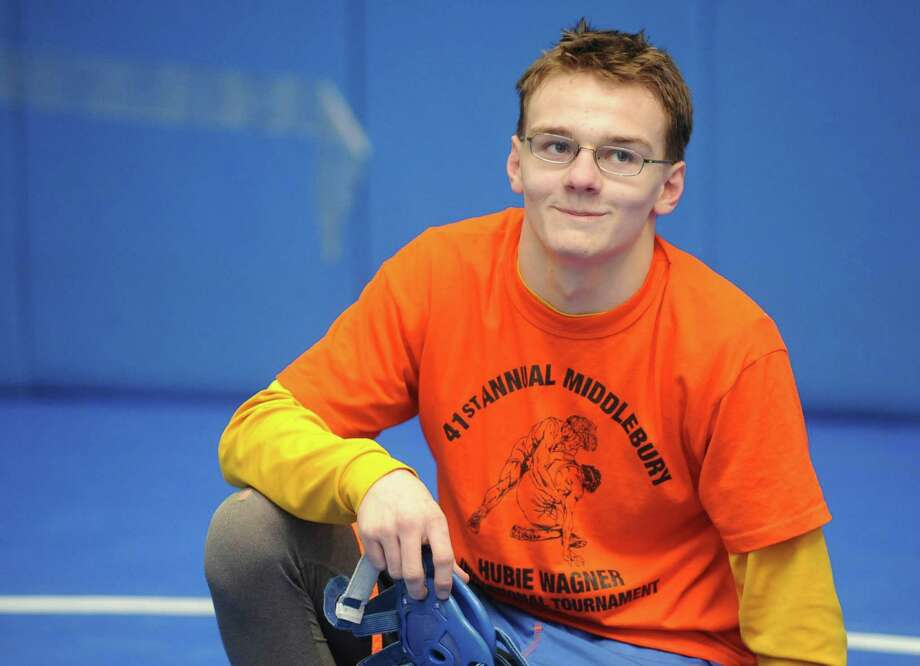 Shaker High School wrestler Blake Retell during practice on Tuesday Jan.22,2013 in Latham, N.Y. (Michael P. Farrell/Times Union) Photo: Michael P. Farrell