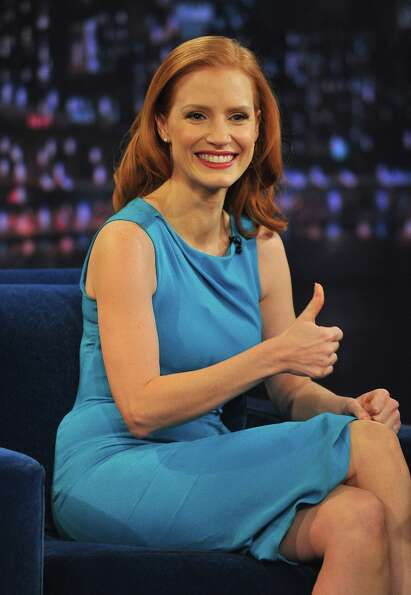 Jessica Chastain in 2013, on the set of 'Late Night With Jimmy Fallon.'
