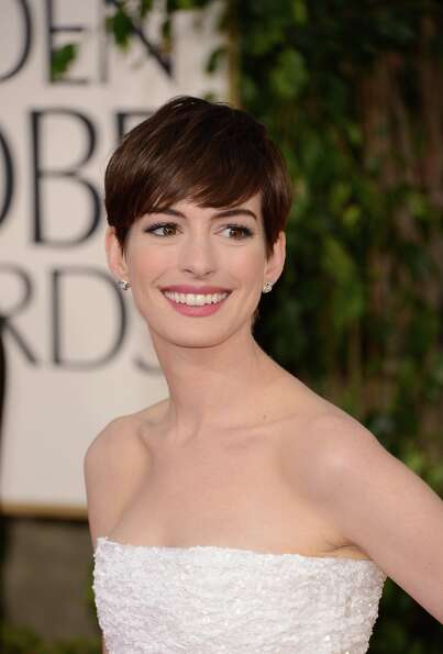 Anne Hathaway in 2013, at the  Golden Globe Awards in January. She's been nominated for her work in