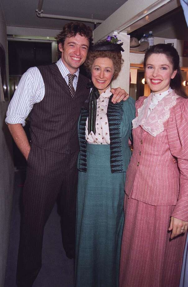 Here's what Hugh Jackman (left) was doing back in 1998, when he starred in 'Oklahoma' at the  National Theatre in London. Photo: Dave Benett, Getty Images / Hulton Archive