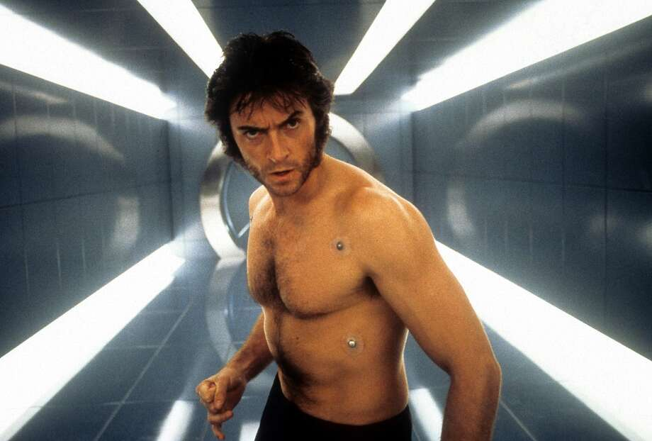Then Hugh Jackman shed his shirt to play Wolverine in 'X-Men' in 2000.  Photo: Archive Photos, Getty Images / 2012 Getty Images