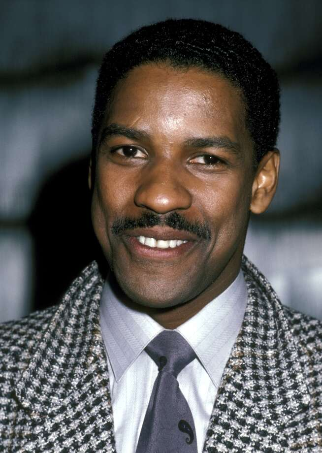 Denzel Washington with a fine mustache! Photo: Ron Galella, WireImage / Ron Galella Collection