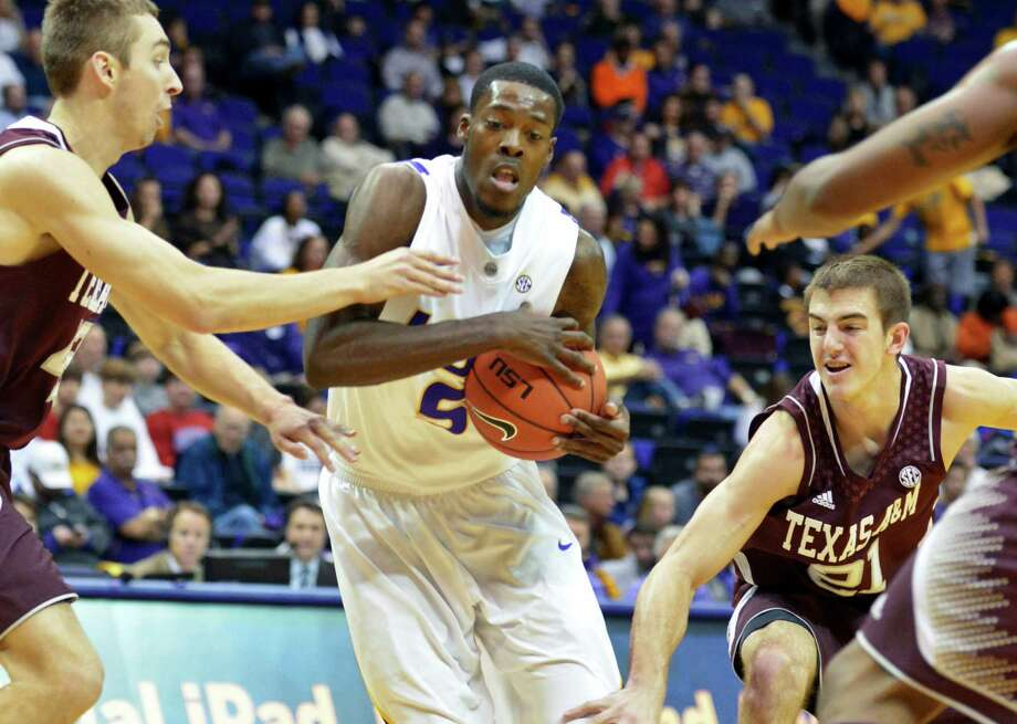 LSU's Shavon Coleman drives against Texas A&M during an NCAA college basketball game in Baton Rouge, La., Wednesday, Jan. 23, 2013. (AP Photo/The Advocate, Heather Mcclelland) Photo: Heather Mcclelland, Associated Press / The Advocate
