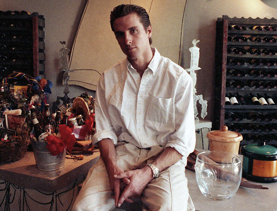 Oct. 22, 1992: Gavin Newsom at the PlumpJack Wine Shop, one day after it opened. This photo ran in a Food section story headlined Plump Jack's Wine Riches. I'm struck mostly by the Bret Easton Ellis-ness of this pose. Photo: Fred Larson, The Chronicle / ONLINE_YES