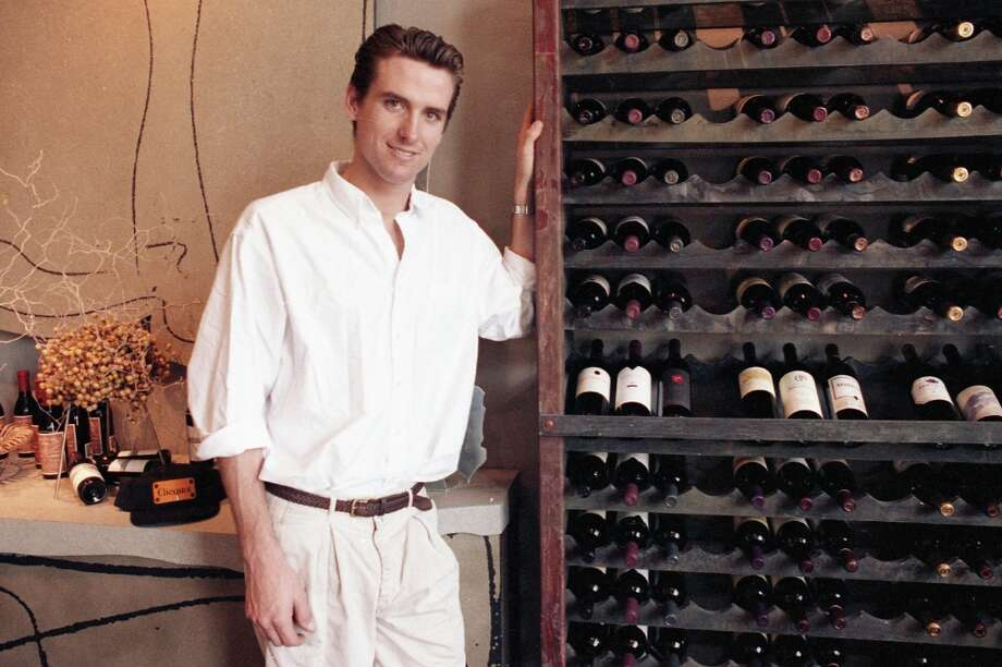 One more of Newsom from the PlumpJack Wine Shop opening shoot. This pose didn't run in the paper. He looks a little like a Red River-era Montgomery Clift. Photo: Fred Larson, The Chronicle / ONLINE_YES