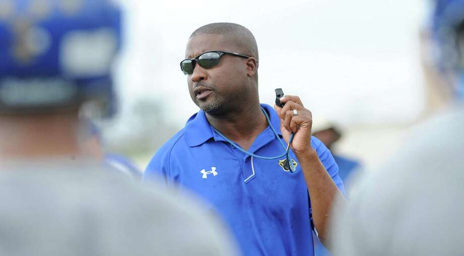 Ozen Head Coach Jeff Nelson and his whistle at practice Monday.    Dave Ryan/The Enterprise Photo: Dave Ryan