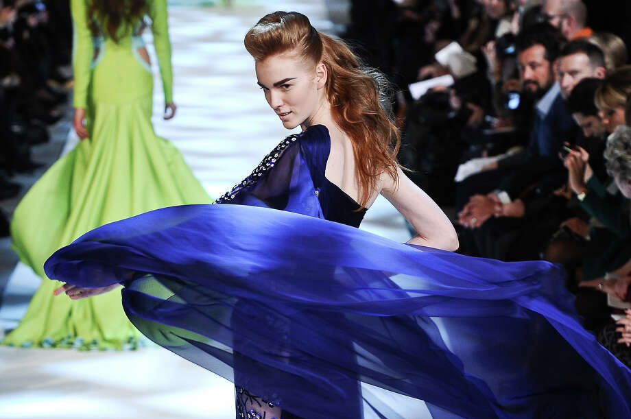 A model wears a creation by fashion designer Georges Chakra as part of his Spring/Summer 2013 Haute Couture fashion collection, in Paris, Wednesday, Jan. 23, 2013. Photo: Zacharie Scheurer, ASSOCIATED PRESS / AP2013