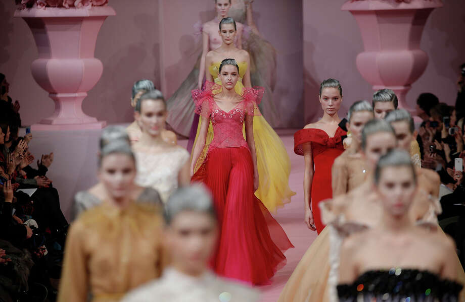 A model presents a creation by French fashion designer Alexis Mabille for his  Spring Summer 2013 Haute Couture fashion collection, presented in Paris, Monday, Jan. 21, 2013. Photo: Christophe Ena, ASSOCIATED PRESS / AP2013